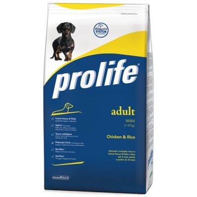 Complete pet food full of fresh chicken and rice for sterilized adult dogs