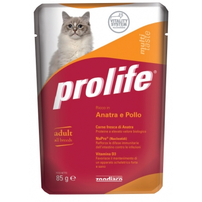 Mono-protein and Mono-carbohydrates cat food for senior cats  Without added preservatives,colourings and flavourings  Fresh Chicken Lamb (75%)  Packs: pouch 85 g