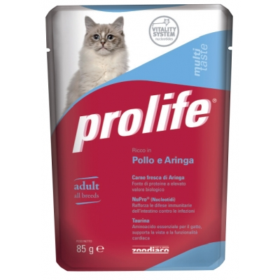 Complete cat food for adult cats  Without preservatives, colourings and flavourings added  Fresh Lamb and Beef Meat  Pouch single serve 85 g
