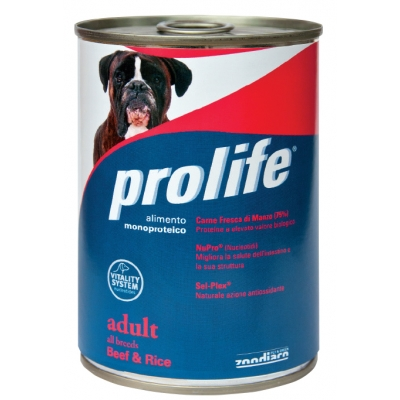 Mono-protein and Mono-carbohydrates dog food Without added preservatives, colourings and flavourings Fresh Lamb meat (75%) Packs: 400 g