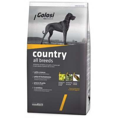 Complete pet food with chicken, beef, fish and rice for adult dogs from 12 months old