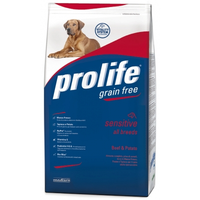 Complete pet food full of fresh pork and potatoes for hypersensitive adult dogs