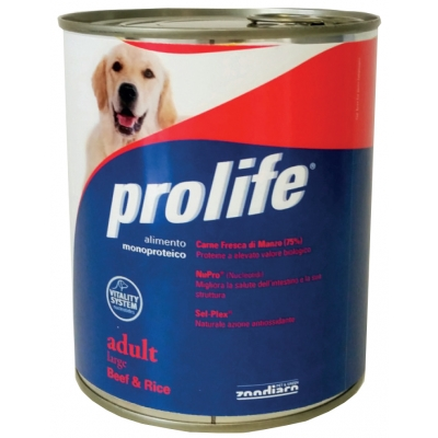 Mono-protein and Mono-carbohydrates dog food Without added preservatives, colourings and flavourings Fresh Chicken meat (75%) Packs: 400 g and 800 g