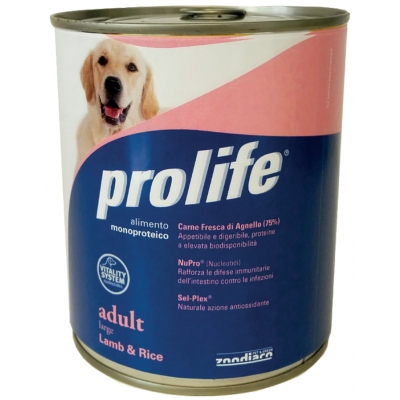 Mono-protein and Mono-carbohydrates dog food Without added preservatives, colourings and flavourings Fresh Beef meat (75%) Packs: 800 g.