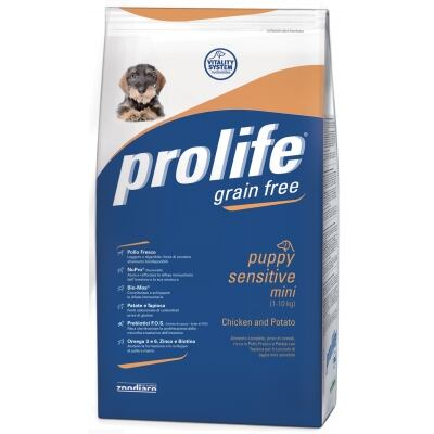 Complete pet food full of fresh lamb with rice for all breed sensitive puppies